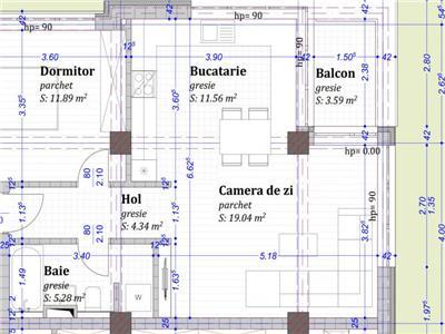 Apartament 2 camere bloc nou cu CF semifinisat zona Baciu Petrom