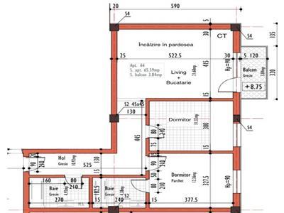 Apartament cu 3 camere in zona autogarii