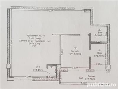 Apartament 2 camere bloc nou cu CF zona strazii Eremia Grigorescu
