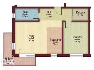 Apartament cu 2 camere in zona Aqua Park Floresti