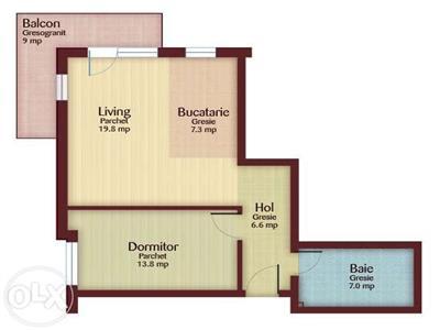 Apartament cu 2 camere de  vanzare in zona Profi Floresti