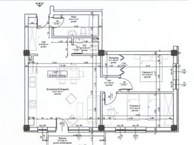Apartament cu 3 camere 68 mp Atelierul de Pizza Floresti