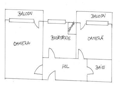 Apartament cu 2 camere in Marasti, 56 mp, zona Brd!