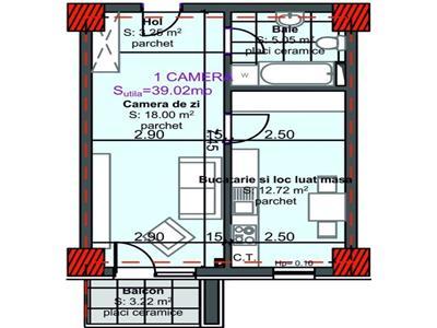 Apartament cu 1 camera, 40 mp la pret de garsoniera in Marasti !