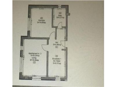 Apartament 2 camere in constructie noua 1 loc de parcare Donath Park