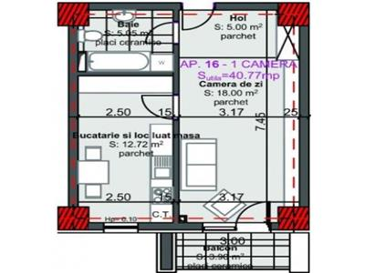 Apartament cu 2 camere in Marasti, etaj 2 !