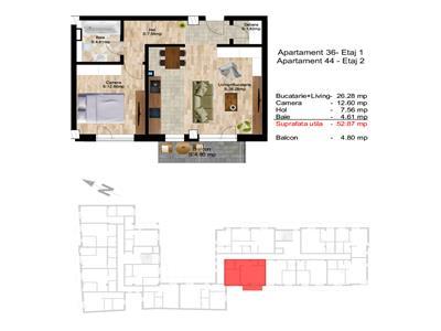 Apartament cu 2 camere ultracentral, zona P-ta Avram Iancu !