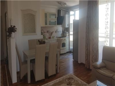 Apartament 3 camere finisat si mobilat lux de inchiriat in Andrei Muresanu cu terasa de 12 mp bloc nou