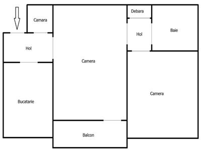 Apartament cu 2 camere, etaj 1, zona Taietura Turcului !