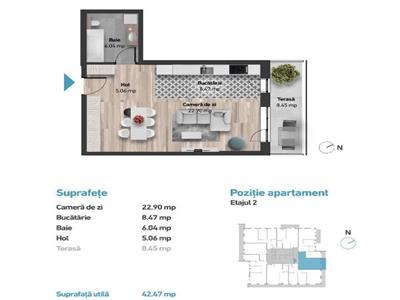 Apartament cu 1 camera in Zorilor, zona Golden Tulip !