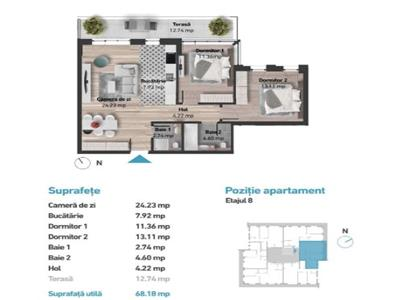 Apartament cu 3 camere in Zorilor, zona Golden Tulip !