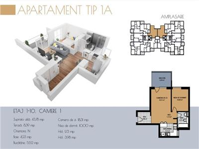 Apartament cu 2 camere in Buna Ziua, zona Grand Hotel !