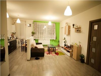 Apartament 2 camere, finisat, mobilat, parcare inclusa + gradina generoasa de 50 mp !