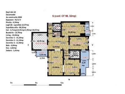 Apartament cu 4 camere, 98 mp, etaj, 3 in Zorilor, zona Arhitectura !