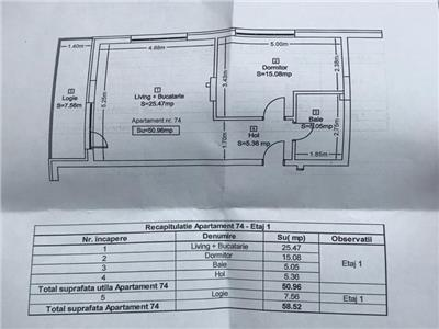 Apartament 2 camere cu parcare subterana