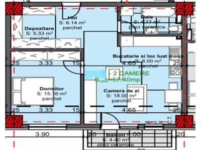 Apartament cu 2 camere cu CF garaj in subteran zona Kaufland Marasti!
