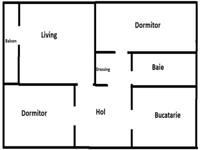 Apartament 3 camere decomandat etaj 2 zona Meziad Manastur