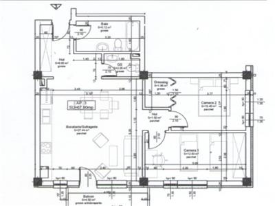 Apartament cu 3 camere 68 mp utili constructie noua finalizata zona Ioan Rus