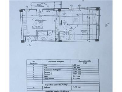 Apartament cu 3 camere 54 mp constructie noua finalizata zona Ioan Rus