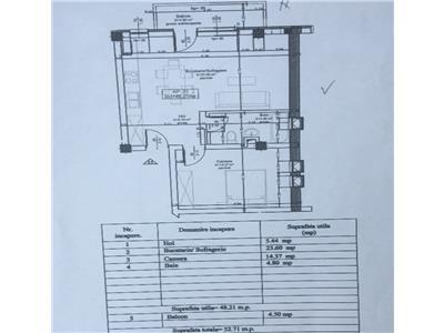 Apartament cu 2 camere 48 mp constructie noua finalizata zona Ioan Rus