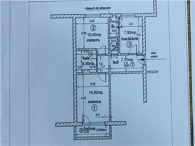 COMISION 0%! Apartament cu 2 camere in Marasti, 53 mp in zona BRD !