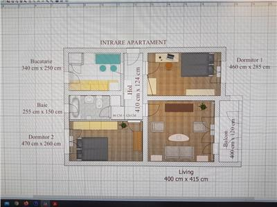 Apartament cu 3 camere decomandat in Gheorgheni