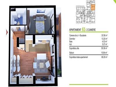 Apartament 2 camere garaj in cartier Gheorgheni zona Baza Sportiva!