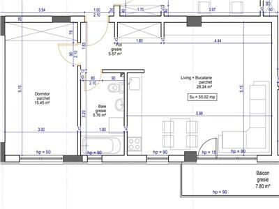 Apartament cu 2 camere in bloc finalizat cu CF strada Sub Cetate