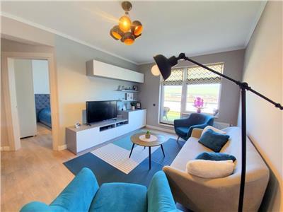 Apartament 2 camere mobilat si utilat modern, cu terasa in Floresti!