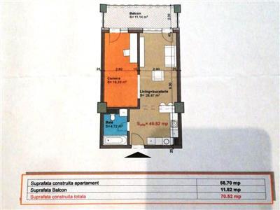 Apartament bloc nou finisat in VIVA CITY  langa Iulius Mall