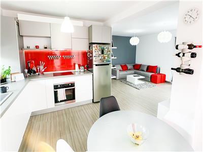 Apartament 3 camere open space, bloc nou cu gradina si parcare