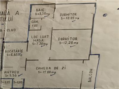 Apartament cu 3 camere, etaj 3/4 in Manastur, zona Grigore Alexandrescu !
